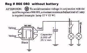 rotax 503 charging system this circuit is similar to the one above the following exceptions first the case of the regulator is not electrically active instead a black wire